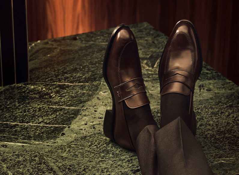 Hand-made leather shoes