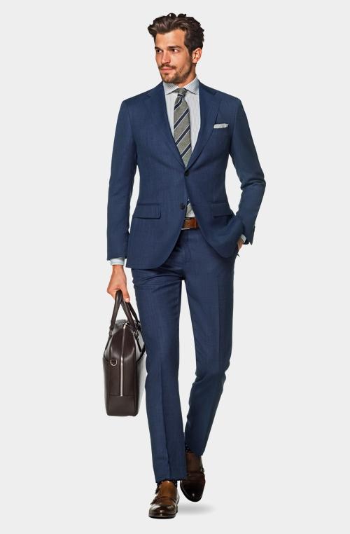 商务绅士蓝色平稳