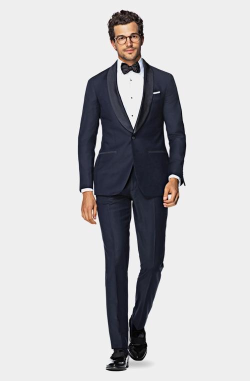 时尚蓝色晚宴礼服