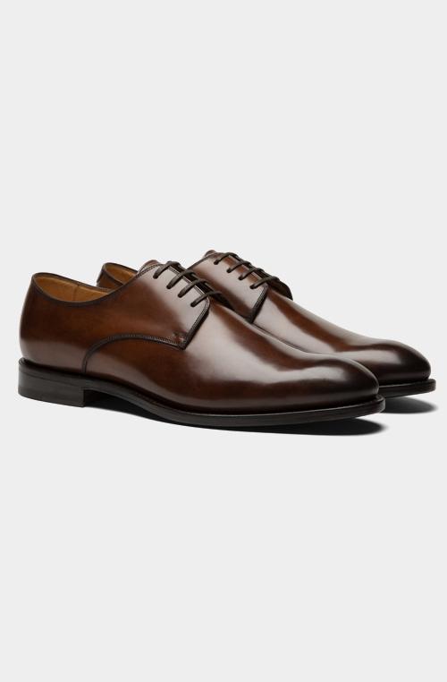 棕色德比鞋
